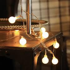 Mini White Light Strings 40 Led Globe String Lights Battery Operated Indoor Light