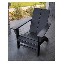 plastic adirondack chairs lowes. Clean Plastic Adirondack Chairs Lowes Amazing St Croix Contemporary Chair Black Polywood Of 43