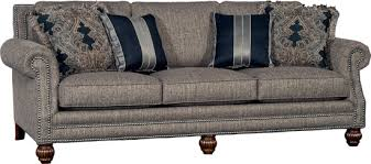 gray tweed sofa. Modren Tweed 4300F10 Sofa  Tuscan Tweed Lpp Lafayette Onyx Pt Larkin Gazelle Spp  Berkley Lane NAIL Nickel Shown With Walnut Finish And Gray