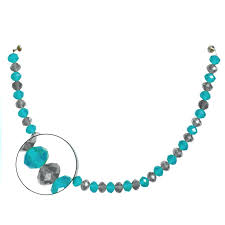 crystal garland turquoise silver set of 3 magnetic chandelier wedding decorations