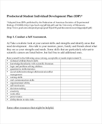 individual development plan examples 14 individual development plan templates free sample example