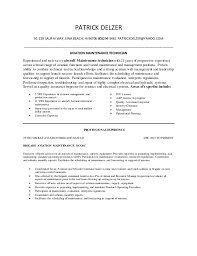 aircraft maintenance technician resume aviation maintenance technician resume delzer