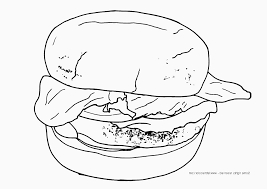Small Picture Hamburger Coloring Pages GetColoringPagescom