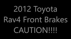 Toyota Rav4 Problem - YouTube