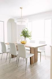 crate barrel monarch natural solid walnut dining table with white chairs idea 21