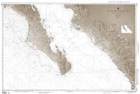Mexico Navigation Charts Nga Nautical Chart 21014 Cabo San Lazaro To Cabo San Lucas And Southern Part Of Gulf Of California Mexico West Coast Omega