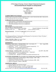 Undergraduate College Resume Template Resume Templates For College Students With No Work