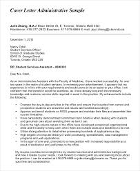 Sample Cover Letter For Administrative Assistant Administrative Assistant Cover Letter 8 Free Word Pdf