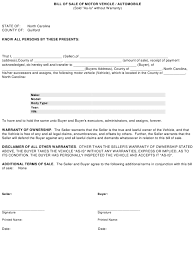 nc bill of sale form motor vehicle automobile bill of sale template guilford
