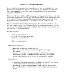 Board Report Template Word 24 Board Report Templates Pdf Word Apple Pages Google