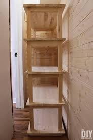 diy wood shelving for a closet