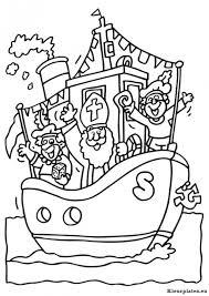 Sinterklaas Stoomboot Kleurplaten Kleurplateneu