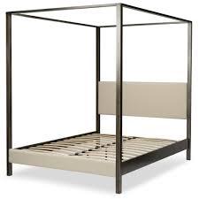 Fashion Bed Group Avalon Slate California King Canopy Platform Bed ...