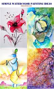 simple watercolor painting ideas50