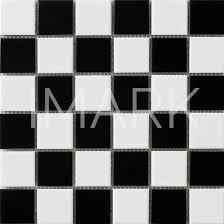 black and white glossy glazed porcelain kitchen wall mosaic tile