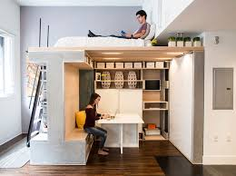 Furniture for small houses Expandable 3 Elevate The Bed And Give Yourself More Space Underneath House Beautiful 50 Small Studio Apartment Design Ideas 2019 Modern Tiny