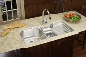 undermount kitchen sink stainless steel: elkay eluhl harmony lustertone stainless steel   quot x   quot double basin undermount kitchen sink with right primary bowl