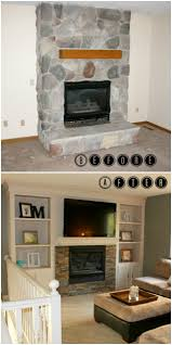 Built In Cabinets Beside Fireplace Remodelaholic Fireplace Makeover With Built In Shelves