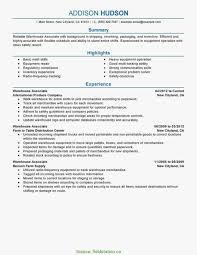 Typical Cv For Warehouse Job Warehouse Operative Cv Example