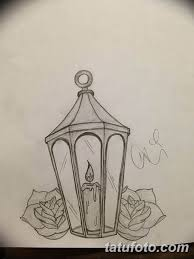 эскиз тату свеча 12082019 036 Sketch Tattoo Candle Tatufoto