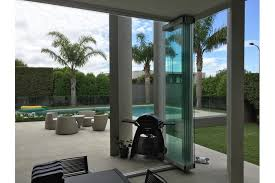 vetro folding stacking door system in a patio environment