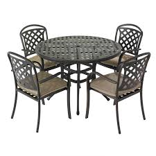 hartman berkeley 4 seat round garden furniture set with parasol loading zoom