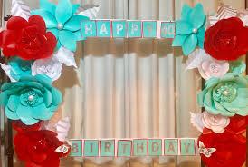 birthday paper flower photo frame backdrop