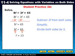 student practice 2a solve 8f 3f 65 8f 3f