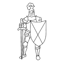 This coloring sheet features the mouse king, the antagonist of this fairy tale. Print A Coloring Sheet Of A Knight In Armour Fun For Kids Leuk Voor Kids