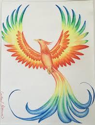 Drawings Of Phoenix Prismacolor Phoenix Drawing 8 12 X 11 Flowers Pinterest Phoenix