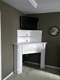 diy corner fireplace mantel shelf build