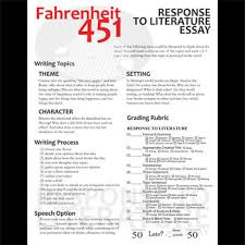 fahrenheit essay prompts grading rubrics by created for learning fahrenheit 451 essay prompts grading rubrics