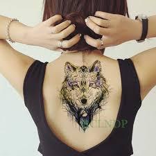 водостойкая временная татуировка наклейка волка голова дерево временная
