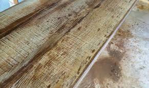 wood grain concrete countertop