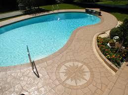 stamped concrete pool patio. Stamped Concrete Morris County, NJ Pool Patio C