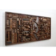 brown reclaimed wood wall art
