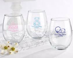 Personalized 15 Oz Stemless Wine Glass  Baby Favors By Kate AspenBaby Shower Personalized Gifts