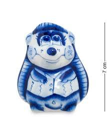 <b>Диспенсер для зубочисток Art</b> East, Ежик, 7 см, гжель — купить в ...