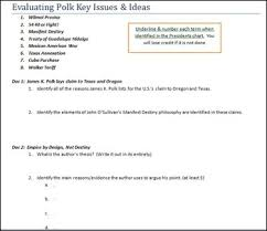 Evaluating President James K Polk Manifest Destiny