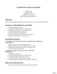 Sample Bartender Resume Bar Resume Sample Examples Resumes Job Samples For High Bartender 38
