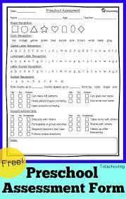 Free Preschool Assessment Form + Mother Goose Time Preschool ...