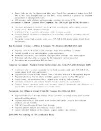 Accounting Assistant Job Description Fascinating Accountant Job Description For Resume Accounting Job Description