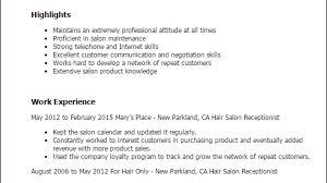 Hair Salon Receptionist Resume Template Best Design Tips