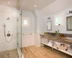 bathroom subway tile. Contemporary White Subway Tile Bathroom Wood Floor Photos Of Window Creative Title