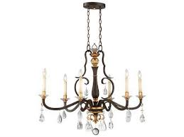 cau nobles raven bronze with sunburst gold leaf highlights six light 40 long island light