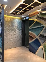 Entrance Mirror Design Entrance Curvedwall Mosaics Mirror Colourpallete Pattern