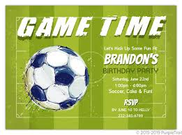 Soccer Party Invite Paint Splatter Game Time Soccer Party Invitation