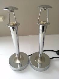 maison table lamp bedside chrome touch lamp base pair
