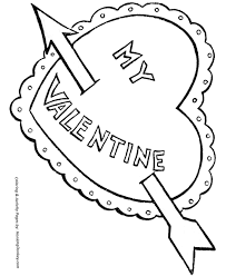 Small Picture Valentines Day Hearts Coloring Pages A big heart with an arrow