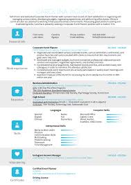Event Planner Resume Objective Resume Examples By Real People Corporate Event Planner